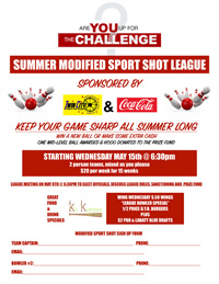 summer bowling league barre vermont montpelier